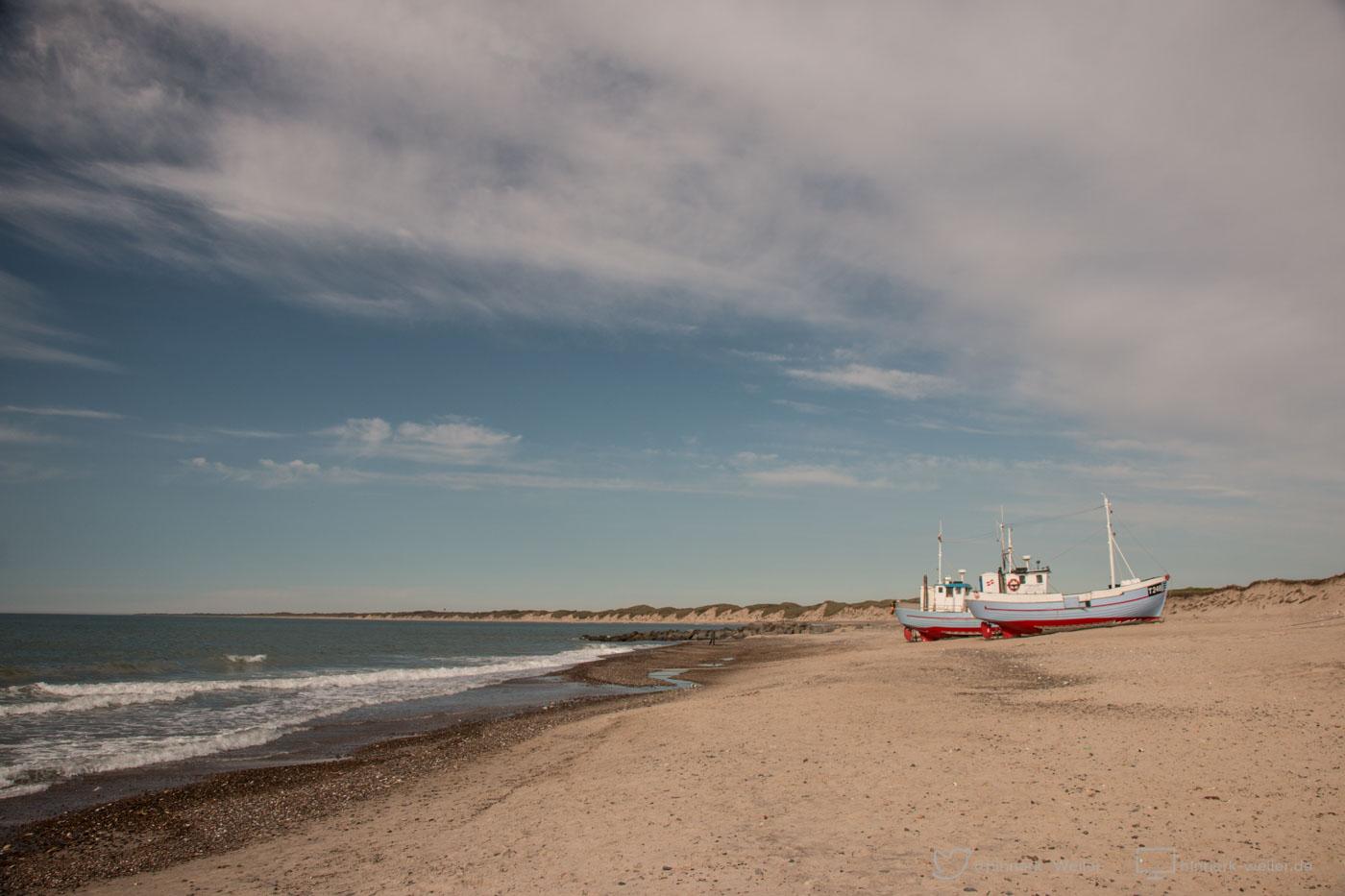 Beach, DK, Danmark, Denmark, Dänemark, Europa, Fishing Vessel, Nordsee, North Sea, Nr.Voropor, Thy, boats, the world